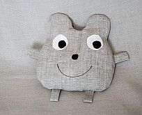 Pillow-toy Mouse filled with buckwheat shells