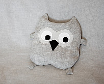 Pillow-toy Owl filled with buckwheat shells